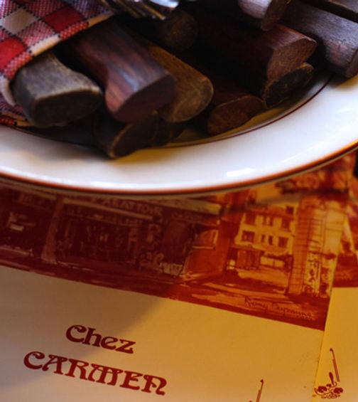 Menu Chez Carmen