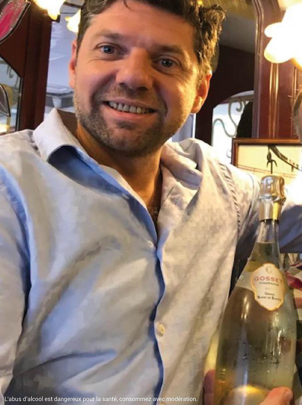 Blanc de blancs Champagne Gosset Chez Carmen Toulouse
