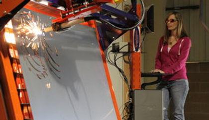 5x5 Vertical CNC Plasma Table.  Hypertherm Plasma Torch
