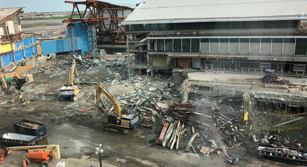 Terminal demolition to make way for second pedestrian bridge