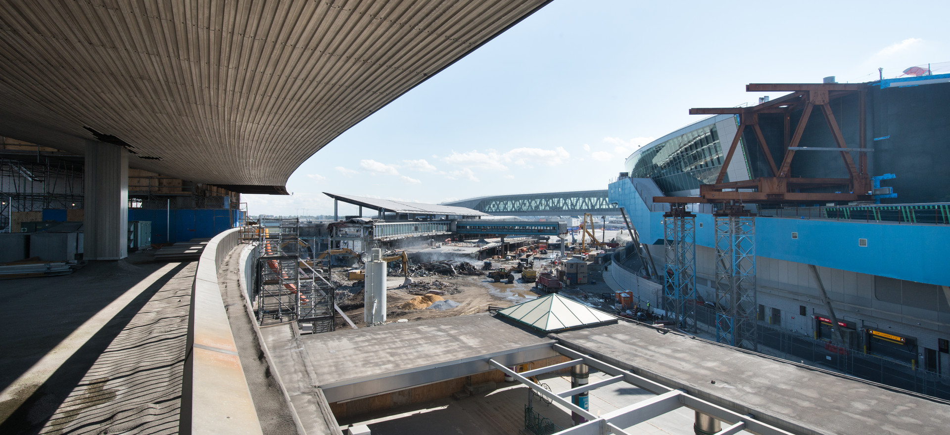View of steelwork from original terminal building