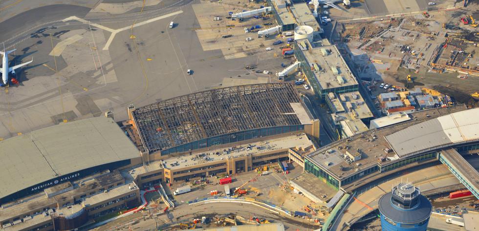 Aerial of Hangar 1 Demolition