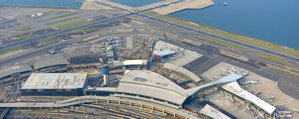Fall 2020, aerial view of site with view of Central Hall