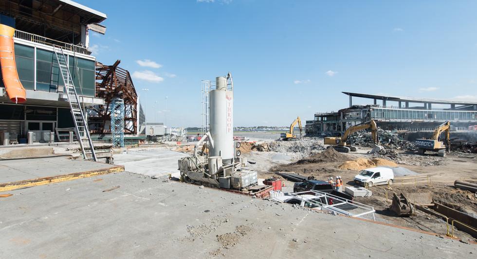 Original terminal demolition makes way for bridge