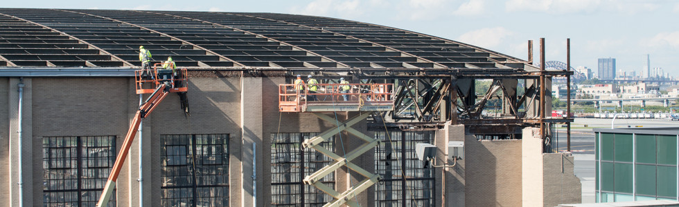 Removal of roof, Hangar 1