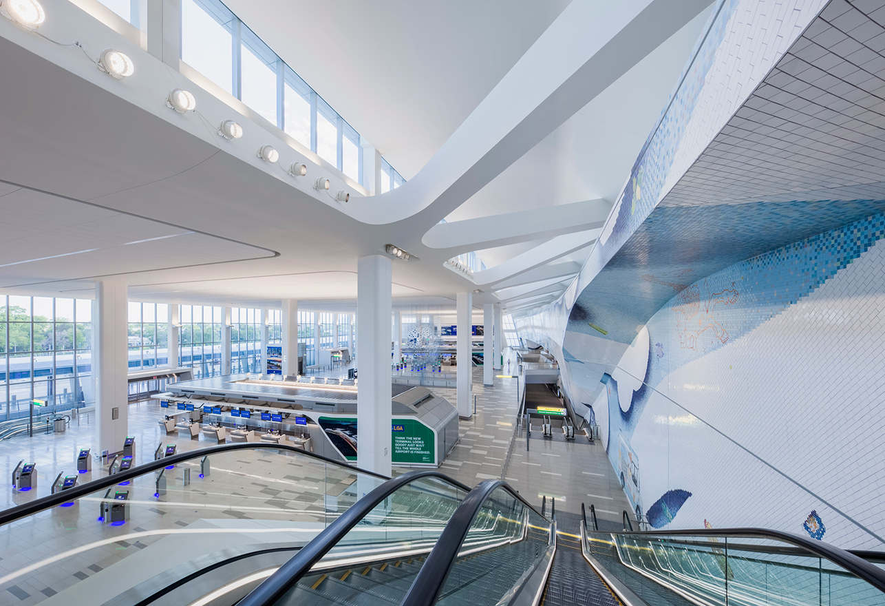 Interior of the new Arrivals & Departures Hall of Terminal B