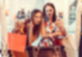 Two female friends shopping.
