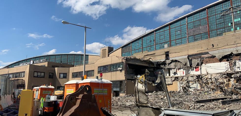Facade Demolition, Hangar 1