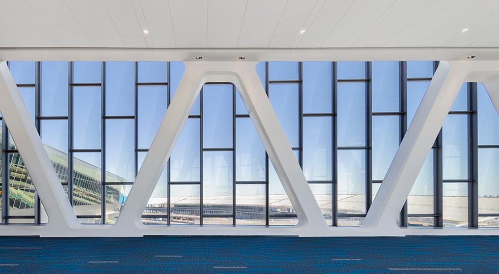 Interior View of Pedestrian Bridge