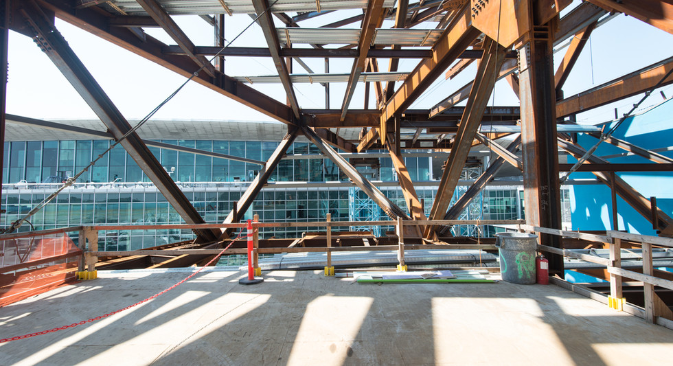 Future entrance to bridge from Western Concourse