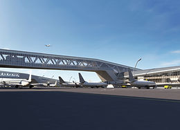 Rendering of the new Terminal B.