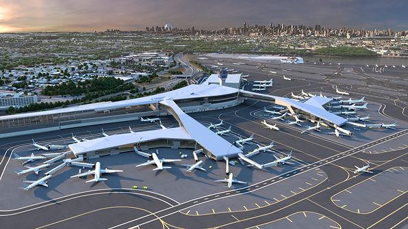 Rendering of the new LaGuardia Terminal B.