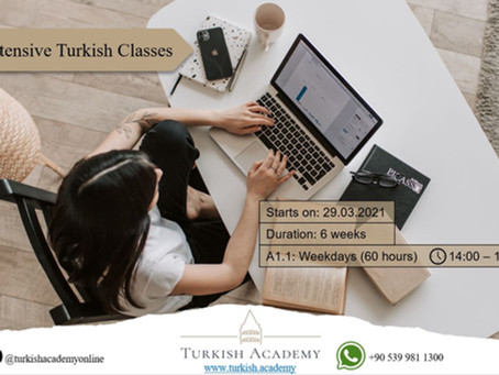Online Turkish Course for Very Beginners!