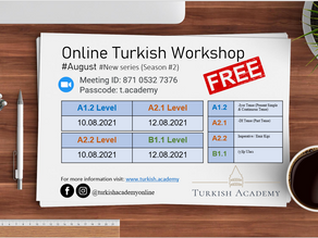 Free Turkish Language Workshop for Foreigners! (Season #2)