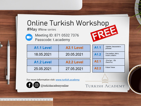 Free Online Turkish Workshops in May