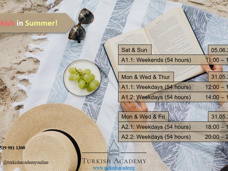 Learn Turkish in Summer