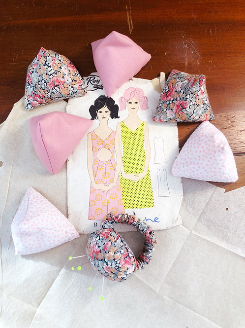 Handmade Pattern Weights And Wrist Pincushion