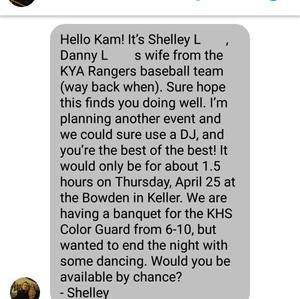 DJ Inquiry Screenshot