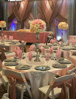 Pastel Pink Gold place settings