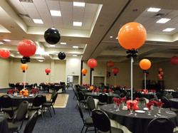 Red Orange & Black balloons