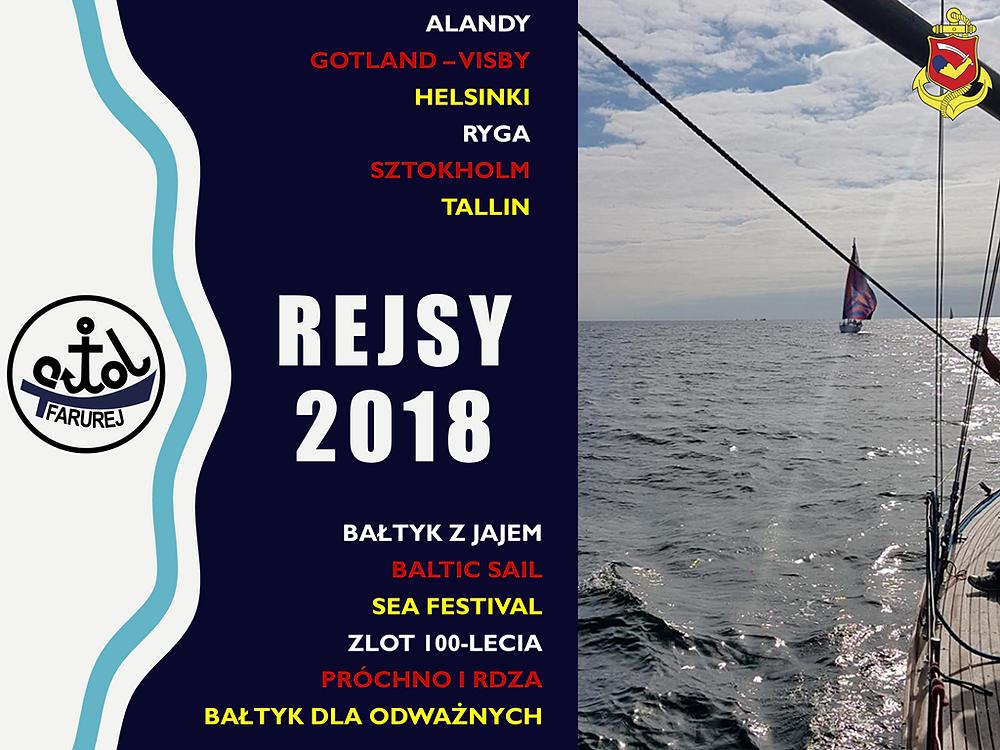 s/y Farurej - Rejsy 2018