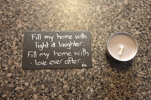 Light and Laughter Blessing Candle