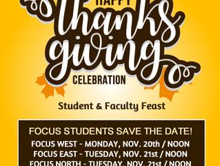 Thanksgiving Celebrations At Focus