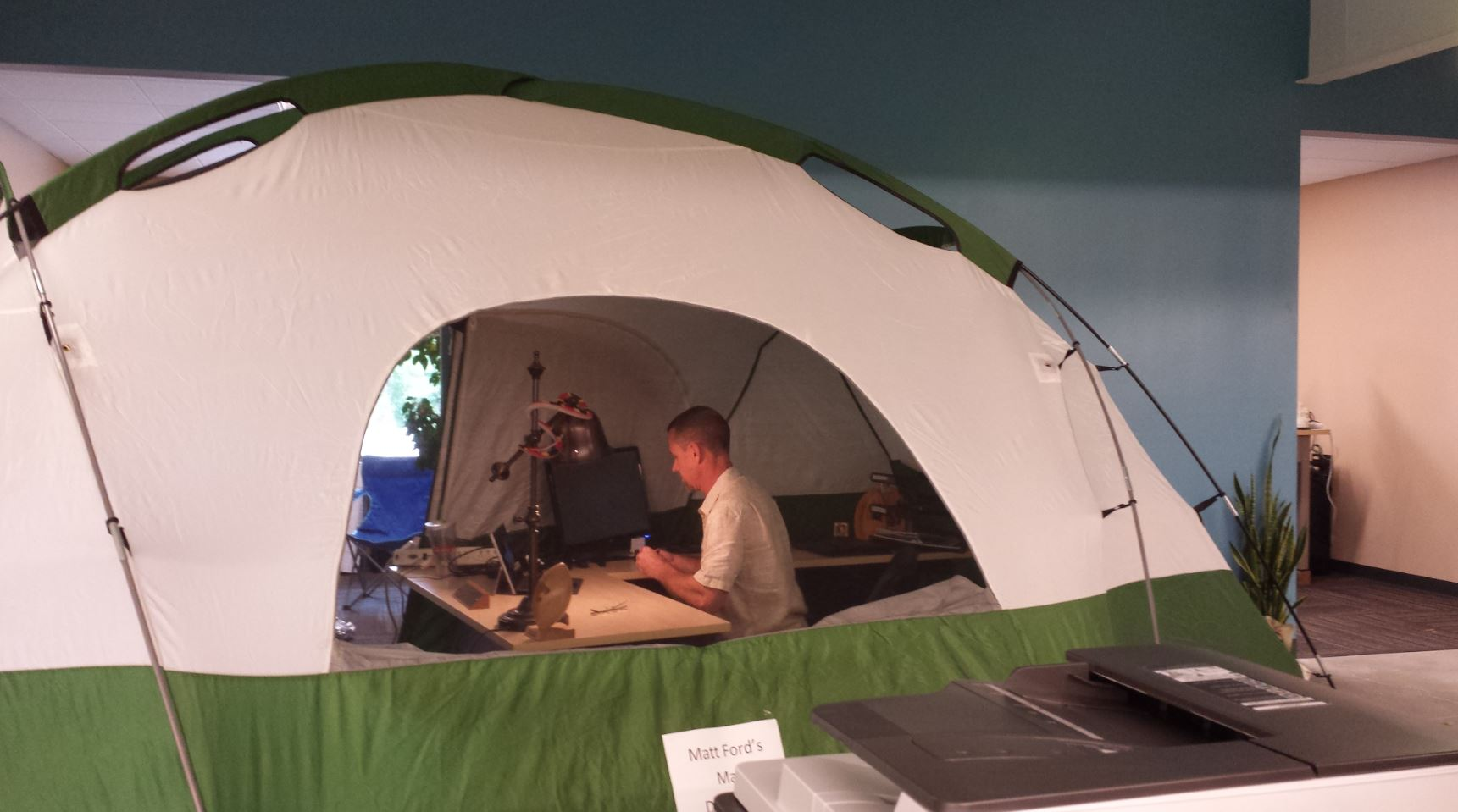 Matt's Tent Office