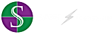 SAEC Electric_Logo-Button+Text+Offset-Wh