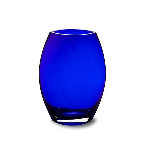 Cobalt Flat Front Vase