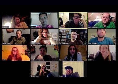 Zoom Acting Virtual Online Class The Village Acting Studio Dominic Burgess Zedrick Restauro Natalie Burtney Cerris Morgan-Moyer Brian McGrath Joel Johnstone Jamie Daniels