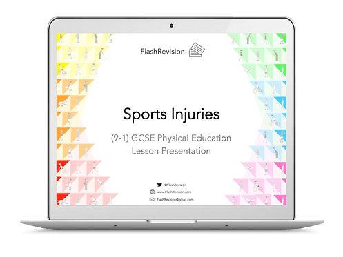 (9-1) GCSE PE; Sports Injuries Lesson Presentation (PPT)