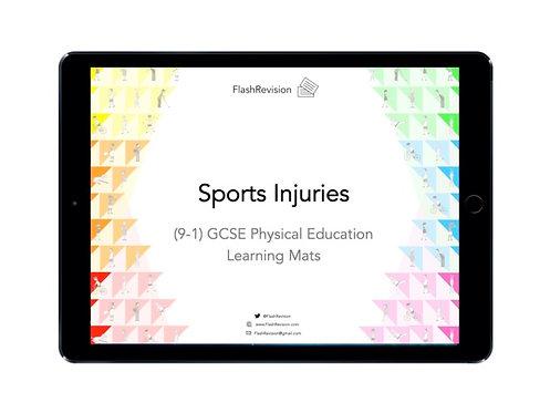 (9-1) GCSE PE; Sports Injuries Learning Mat (PDF)