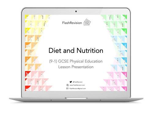 (9-1) GCSE PE; Diet and Nutrition Lesson Presentation (PPT)