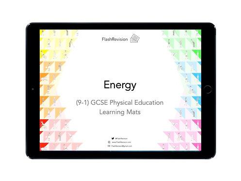 (9-1) GCSE PE; Energy Learning Mat (PDF)