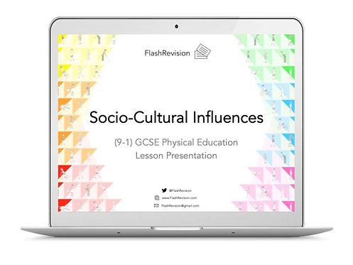 (9-1) GCSE PE; Socio-Cultural Influences Lesson Presentation (PPT)