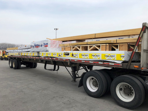 US Glulam truck loaded for delivery.