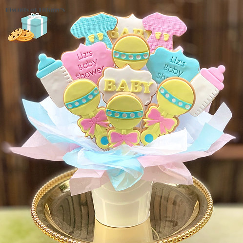 Baby Shower Cookie Bouquet - EMAIL FOR DELIVERY QUOTE