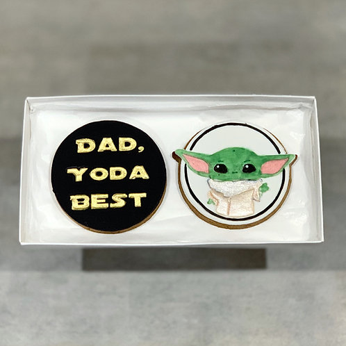 "Father's Day Cookie Gift Box ""Yoda Best"""