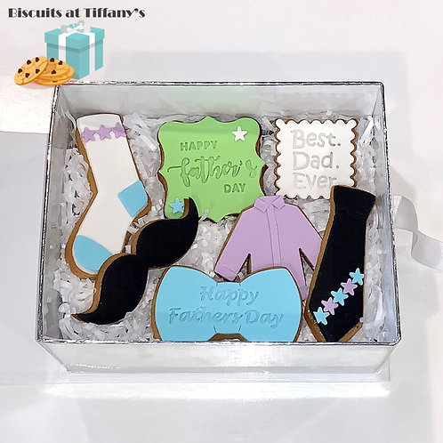 "Fathers Day Cookie Gift Box ""Best dad Ever"""