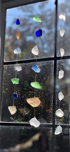 Single Strand Hanging Sea Glass Decor