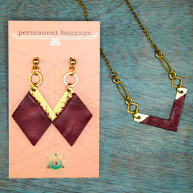 Leather and Brass Jewelry by Permanent Baggage