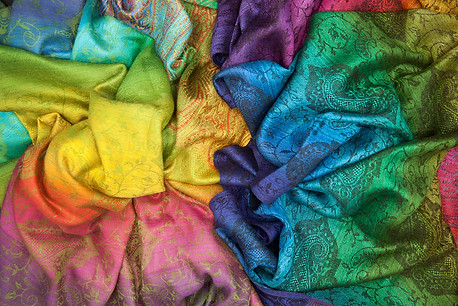 Pashmina Rainbow Scarves @ Wonderful PDX Jewelry and Gifts
