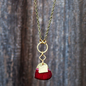 I Love Oregon Brass Necklace @ Wonderful PDX Jewelry and Gifts