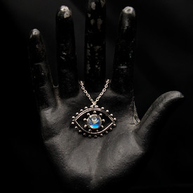 Evil Eye Labradorite Pendant @ Wonderful PDX Jewely and Gifts, Portland, OR