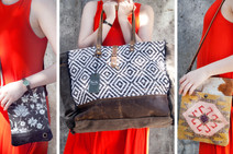 Upcycled Leather and Canvas Bags @ Wonderful PDX Jewelry and Gifts