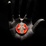 Hamsa Hand Sterling Silver Necklace at Wonderful PDX