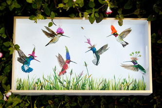 Hummingbird Tray by Vicky Sawyer @ Wonderful PDX Jewely and Gifts, Portland, OR