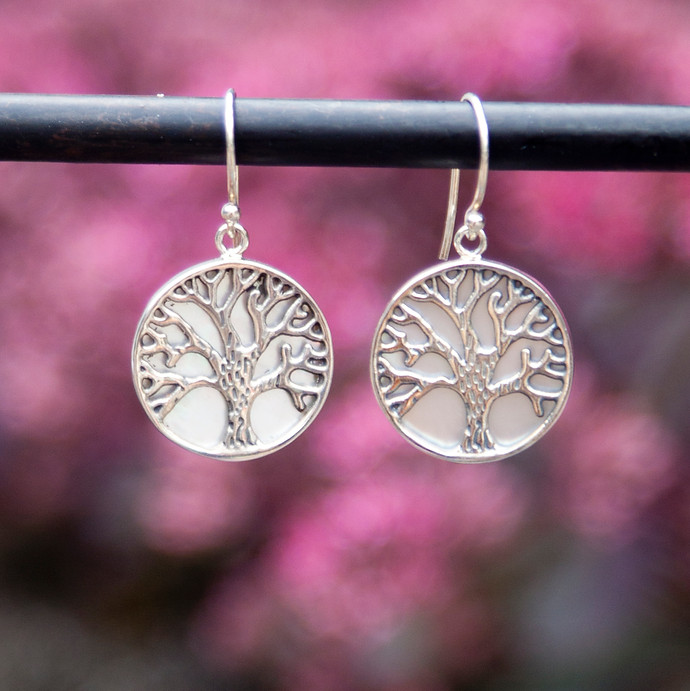 Silver and Shell Earrings @ Wonderful PDX Jewelry and Gifts