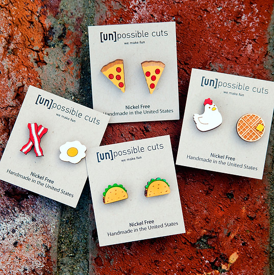 UnPossible Cuts Stud Earrings @ Wonderful PDX Jewelry and Gifts